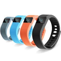 Reloj pulsera saludable online-El más nuevo TW64 pulsera inteligente saludable Bluetooth Fitbit Flex pulsera deporte reloj impermeable pasómetro Sleep Tracker Monitor de actividad para iOS