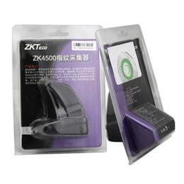 Wholesale Fingerprint Computers - ZK4500 Fingerprint sensor finger reader scanner USB Fingerprint Reader Scanner Sensor ZKT ZK4500 for Computer PC Home and Office