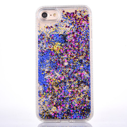 Wholesale Diamond 3d Package - Quicksand 3D phone case for iPhone 7 Soft TPU LiquidFloating Glitter Star with diamonds For 6 6S 6P 7Plus with OPP Package