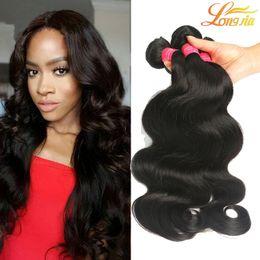 Wholesale Eurasian Extensions - No1 Selling 7A Grade Eurasian Filipino Peruvian Indian Malaysian Brazilian Virgin Hair Weaves Hair extension Body Wave Hair Weft