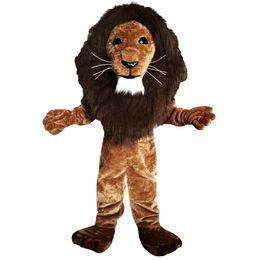 Wholesale Orange Lion Costume - Lion mascot costume EMS free shipping, cheap high quality carnival party Fancy plush walking Public lion mascot adult size.
