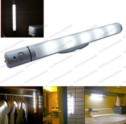 Wholesale Led Tube Sensor - 2017 NEW Magnetic Corridor Night Light Smart IR Motion Sensor 5 LED Night Lamp Swivel LED Tube Lamp for Hallway Wardrobe Cabinet MYY