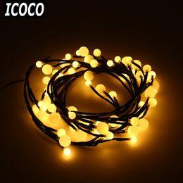 Wholesale Festival Lights For Sale - Wholesale- ICOCO 2.5 m 72LEDs Firecracker String Lights Lamp 8 Flash Modes+Memory Fairy Light for Home Festival Party Christmas Decor Sale