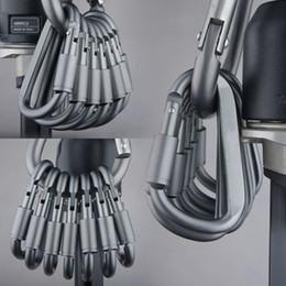 attrezzi da viaggio gadget Sconti Carabine Kit da viaggio per esterni Campeggio Lega Alluminio Sopravvivenza Attrezzatura Tipo D Gancio Moschettoni EDC Gadget