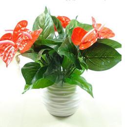 Künstliche Blume gefälschte Anthurium Bouquet Hochzeit Arrangement Weihnachten Home Dekoration G508 von Fabrikanten