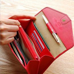 Portafoglio di buste coreano online-Borsa a mano delle signore della borsa del telefono cellulare multifunzionale della borsa del portafoglio del passaporto coreano all'ingrosso