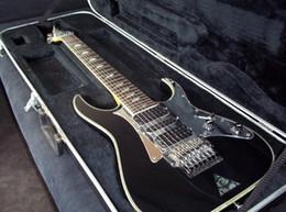Wholesale mirror right - UV777 Universe 7 Strings Vai Black Electric Guitar Dimarzio Pickups Floyd Rose Tremolo Bridge, Disappearing Pyramid inlay, Mirror Pickguard