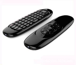 Wholesale Mini Fly Mouse Gyroscope - Gyroscope Fly Air Mouse C120 Wireless Game Keyboard Android Remote Controller Rechargeable Keyboard for Smart TV Mini PC