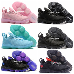 Wholesale Fabric Basket Weaving - New 2017 Air James Men Basketball Shoes for LBJ 14 Low EP Sport Weave Basket Ball Olimpic Gold Pink Black Outdoor Trainers Boot