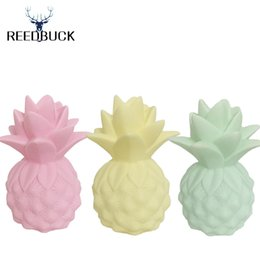 Wholesale Table Bedside Lamp Nightlight - Wholesale- 2017 Newest Lamp Ananas Led Nightlights Yellow Pineapple Night Lamp Baby Pillow Children Bedside Decorate Led Light Table Lamps