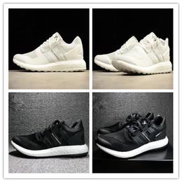 e830c7ccc 2018 Y-3 pure Primeknit ZG Triple bianco nero Kint Scarpe da corsa Y3 puro  scarpe casual scarpe sportive sneaker Taglia 36-45