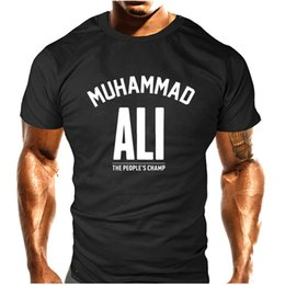 Wholesale Great White Short - MUHAMMAD ALI T shirt Casual Clothing men Greatest Fitness short sleeve printed top cotton tee shirt plus size