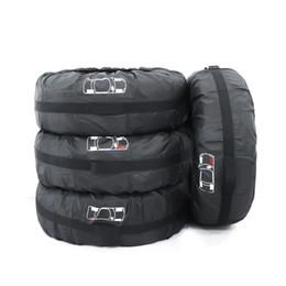 Canada Couvre-pneu de roue de voiture FLR 4 Pcs Noir Couvre-pneu de rechange pliable réglable Couvre-poussière pour voiture Off Road Roue de camion 80 cm / 31 pouces Offre