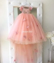 Wholesale Baby Dress For Party Black - Bohemia Beach Wedding Flower Girl Dresses Blush Pink Tutu Spaghetti Ruffles 2017 New Girls Pageant Dress Gowns for Baby Child Birthday Party