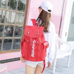 Wholesale Style Laptops - Best new Mens and Womens Leather Backpack Travel Laptop Backpack Male High Quality Drawstring Casual Bag Knapsack Tourist M41379
