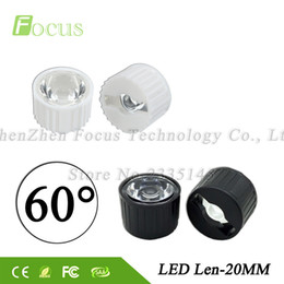 Wholesale Led Holder Lens - 50sets lot 1W 3W LED Len 60 Degree High Power Lenses Bracket with holder Light beads Smooth Surface 20mm PMMA Lens Free Shipping