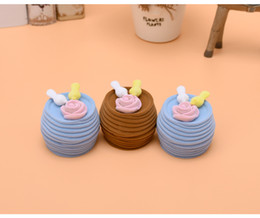 Wholesale Nest Earrings - [Simple Seven] Cartoon Bird Nest Ring Box Plastic Flocking Necklace Jewelry Box Earring Ear Stud Case For Children
