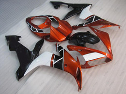 Wholesale R1 Orange Fairings - Bodywork YZF R1 2005 Plastic Fairings for YAMAHA YZFR1 04 06 Orange Red Black ABS Fairing YZFR1 2006 2004 - 2006