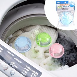 Wholesale Filter Cleaning Machine - round Mesh Filter Bag Floating Style Washing Machine Wool Filtration Hair Removal Device House Cleaning Laundry Bal