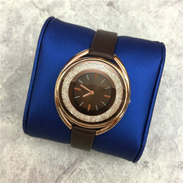 Wholesale Mm Specials - Special Design Women Watches Rolling Diamonds Lady WristWatch Genuine Leather Colorful Female Clock High Quality Casual relogio masculine