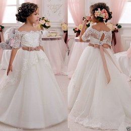 Wholesale Short Prom Dress Princess - Halloween Easter Birthday party Girl Communion Party Prom Princess Pageant Bridesmaid birthday Wedding Flower Girl Dress