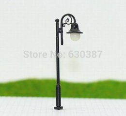 Wholesale Wholesale N Scale Trains - Wholesale- LYM38 10pcs Model Railway Train Lamp Post Street Lights N TT Scale LEDs NEW