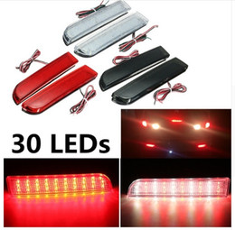 Wholesale Led Rear Bumper Reflectors - 30 LED Red Rear Bumper Reflector Tail Brake Stop Running Turning Light Lamp For Mitsubishi Lancer 2008-2014