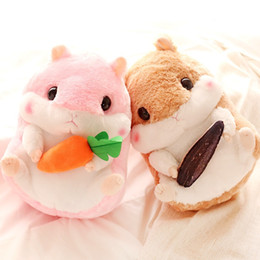 Wholesale Cute Christmas Couples Gifts - New Cute Lovely Plush Hamster Toys Soft Stuffed Guinea Pig Couples Toys Children's Birthday Gift Kids Doll Girls' Gift