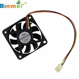 Wholesale Cpu Fan Quiet - Wholesale- CPU Cooling Fan 60mm PC 12v 3 Pin Computer Case Cooler Quiet Molex Connector Easy Installed Drop Shopping