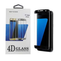 Argentina Para Samsung Galaxy S7 Edge SM-G935 Película protectora de galvanoplastia PET Cubierta completa Protector de pantalla de vidrio templado 9H 4D Arco 0.26 mm Seis colores Suministro