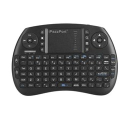 Wholesale Raspberry Box - Original iPazzPort Wireless Mini i8 Gaming Keyboard with Touchpad for Android TV Box and Raspberry Pi 3 and HTPC KP-810-21S