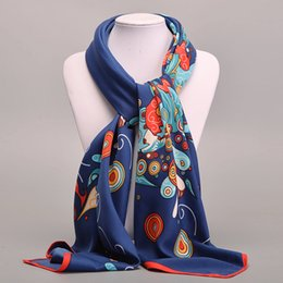 Wholesale original silk scarves - Wholesale-Large Square Twill Silk Scarf For Women Ladies Spring Summer Scarves Female Original Brand Shawls And Scarves Wraps 100*100cm