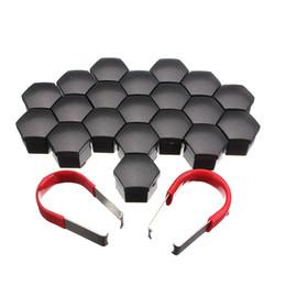 Schraubenabdeckung online-Set von 20 Stück 17mm Auto ABS Kunststoffkappen Schrauben Abdeckungen Nut Alufelge Mattschwarz