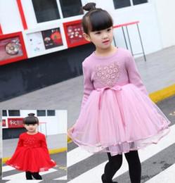Wholesale Korean Skirts Pictures - South Korean children's clothing new winter girl love plus velvet thickening dress small Maria Tung skirt