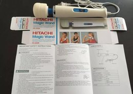 Wholesale Hitachi Magic Wand Retail - New arrival Hitachi Magic Wand Massager AV Vibrator Massager Personal Massager Full Body HV-250R 110-240V with retail box from Airm