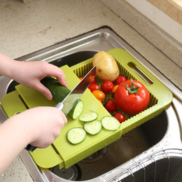 Wholesale Food Drain - Capable Of Draining Chopping Board Multi Function Telescopic Food Basket Removable Family Kitchen Esential Tool Hot Sale 14dl J R