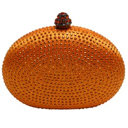 Wholesale oval clutches - Wholesale- Heart oval shape popular hardcase handbags small evening clutches for wedding bridal evening prom