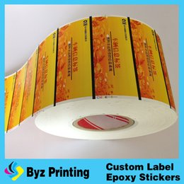 Wholesale Hologram Sticker Printing - Full color glossy custom transparent label sticker, vinyl hologram sticker printing