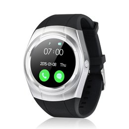 Wholesale Mobile Wrist Watch Gsm - Smart watch multi-language mobile phone watch waterproof automatic voice dial GSM SIM TF phone FM radio music watch pedometer camera alarm