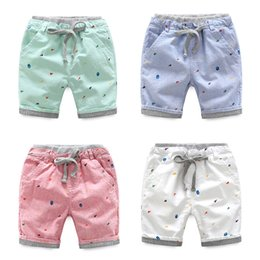 Wholesale Kids Oxfords - Boys clothing Kids clothing Boys shorts Striped print oxford Beach short Boutique 2017 summer draw cord Cotton Brand wholesale High quality