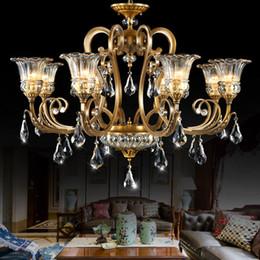 Lustres de haute classe américaine style européen lustre en cuivre lampe salon chambre hôtel bureau d'étude villa escalier pendentif éclairage ? partir de fabricateur