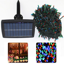 Wholesale Christmas Lights For Outdoors - Solar Powered led string light 200- 500LEDS 21-51M lighting garden light outdoor solar panel light For Christmas Holiday H2021