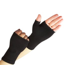 Wholesale Finger Support Gloves - 1 Pair Ultra Thin Breathable Man Woman Half Finger Gloves Elastic Wrist Supports hot Sale