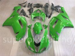 Wholesale Kawasaki Bike Fairing Zx6r - 3 free gifts New Hot ABS motorcycle bike Fairing kits 100% Fit For Kawasaki Ninja ZX-6R 2007 2008 6r 636 07 08 ZX636 Cool Green No.102