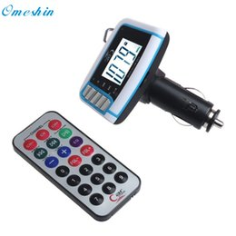 Wholesale Wholesale 1gb Usb Drive - Wholesale- Adroit New LCD Wireless FM Transmitter Car MP3 Player SD TF Card USB Drive Remote 10S61103 drop shipping