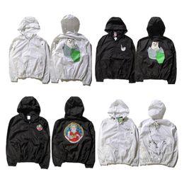 Wholesale White Windbreaker Wholesale - Wholesale- XXL Ripndip Men's Jacket Mens ClothingThin Sun Protection Windbreaker Ripndip Men Jacket Hoodie Jaquetas Masculina Ripndip