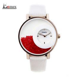 Wholesale Quartz Bottle - watch fitness 2016 festival Memorial Day gift Enmex women luminous hands Swan Lake wristwatch Sand bottle fashion quartz diamond watches
