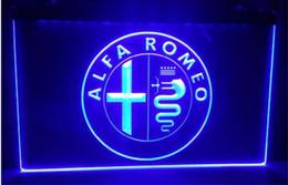 Wholesale Neon Light Sign Car - tr13 Alfa Romeo Car Services Parts beer bar pub club 3d signs led neon light sign home decor crafts