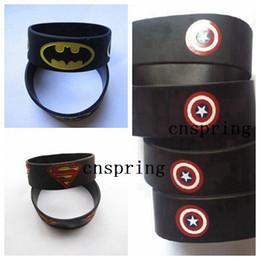 Cadeaux batman en Ligne-Populaire Promotion de promotion de silicone de super-héros Captain America Superman Batman bracelet rempli de couleur Bracelet S-2