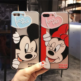 Wholesale Iphone Cases Character - For iphone7 plus cell phone cases with iphone6s Cartoon characters back cover mobile phone cases 2017 best new TPU free shipping